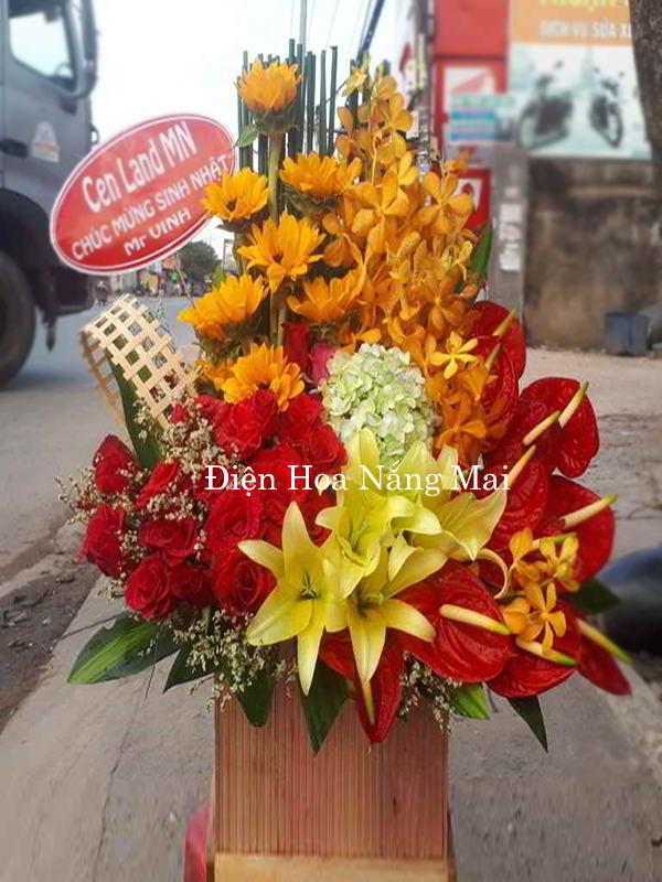 hộp hoa đẹp tặng vợ 41-1